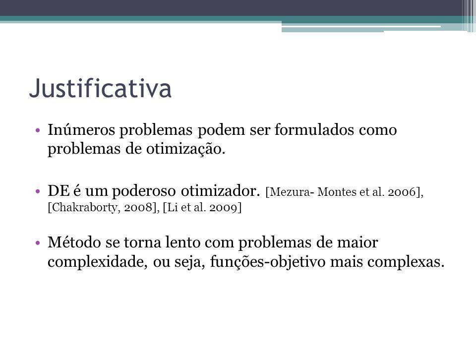 Justificativa Inúmeros problemas podem ser formulados como problemas de otimização.