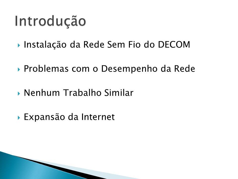 Introdução Instalação da Rede Sem Fio do DECOM