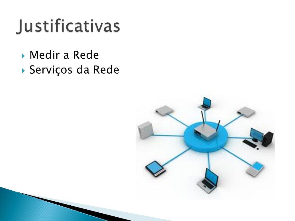 Justificativas Medir a Rede Serviços da Rede