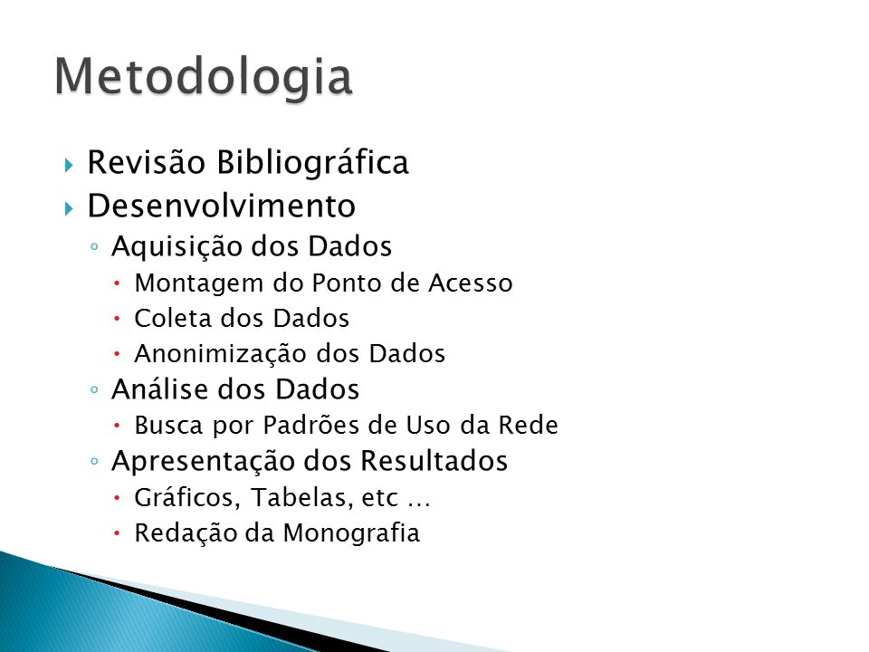 Metodologia Revisão Bibliográfica Desenvolvimento Aquisição dos Dados