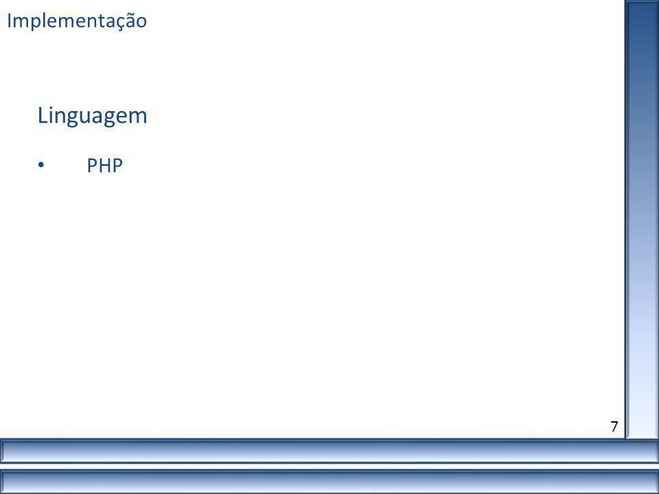 Linguagem Implementação PHP 7