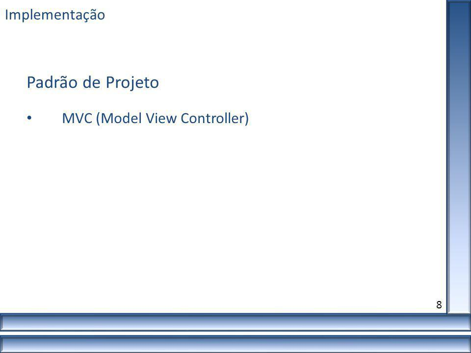 Padrão de Projeto Implementação MVC (Model View Controller) 8