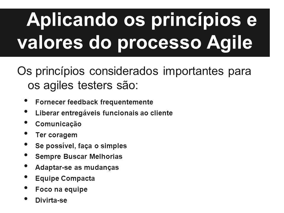 Aplicando os princípios e valores do processo Agile