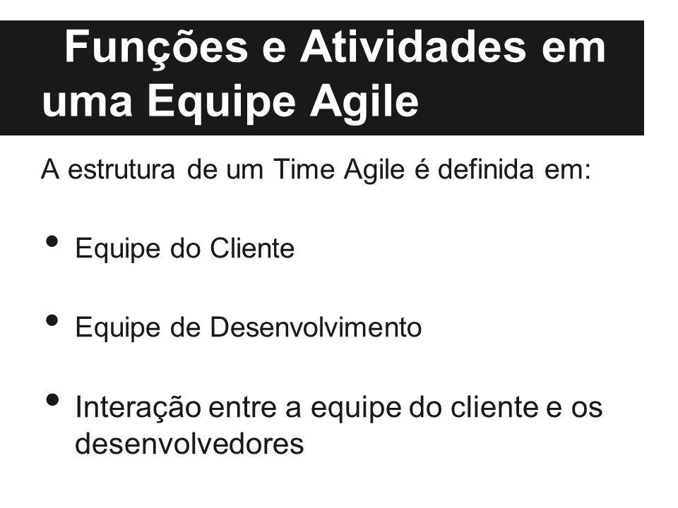 Funções e Atividades em uma Equipe Agile
