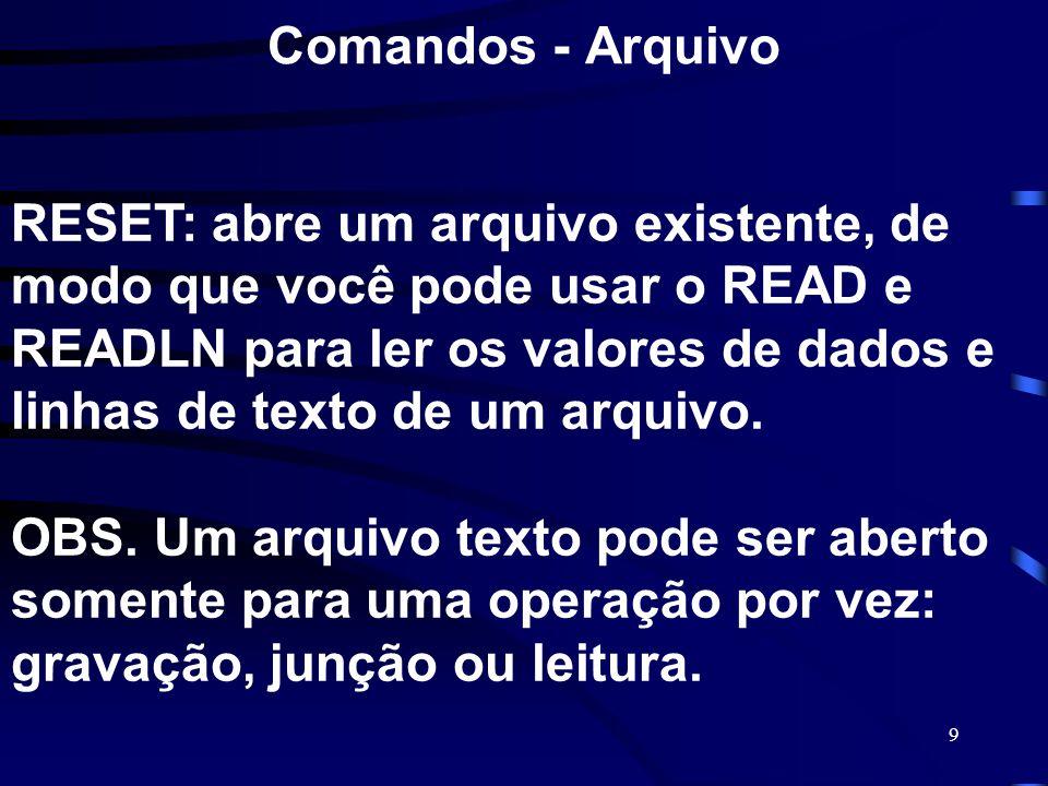 Comandos - Arquivo