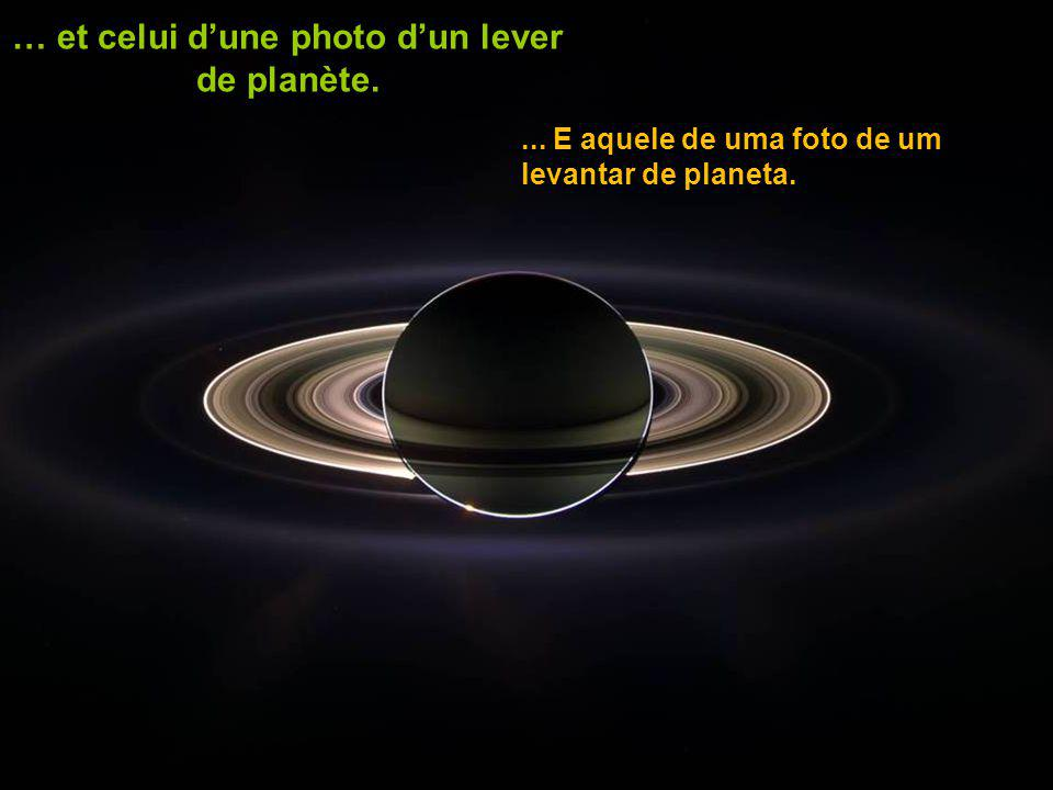 … et celui d'une photo d'un lever de planète.