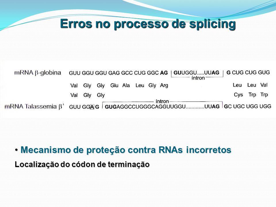 Erros no processo de splicing