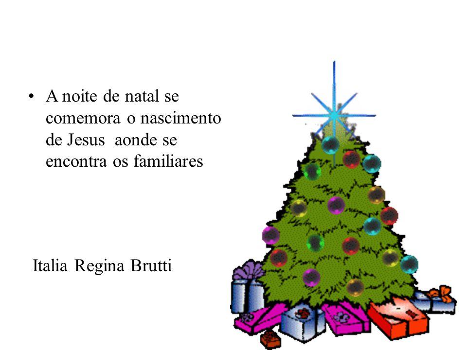 A noite de natal se comemora o nascimento de Jesus aonde se encontra os familiares