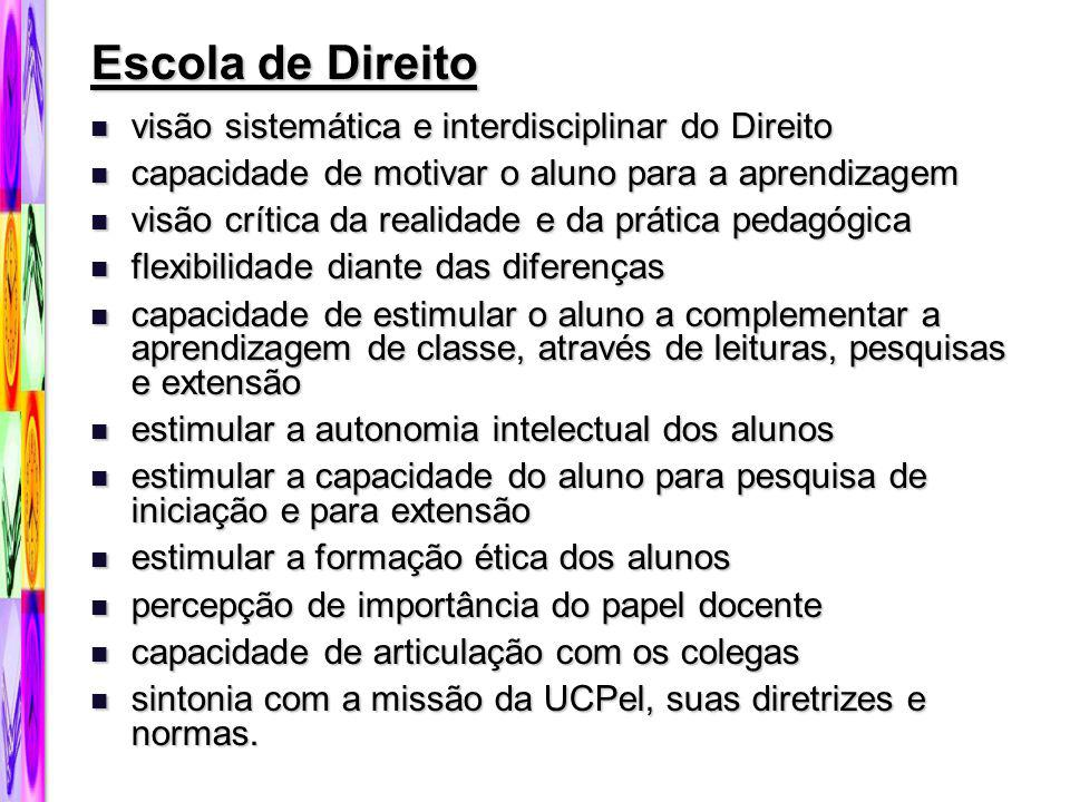 Escola de Direito visão sistemática e interdisciplinar do Direito