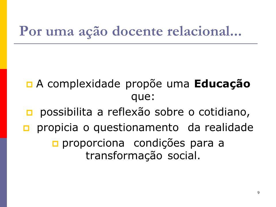 Por uma ação docente relacional...