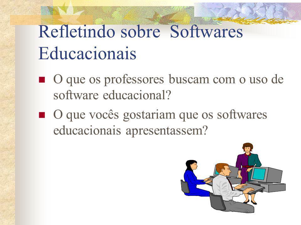 Refletindo sobre Softwares Educacionais