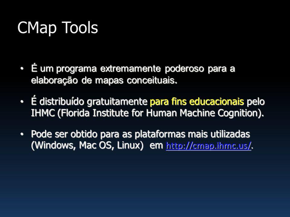 CMap Tools É um programa extremamente poderoso para a elaboração de mapas conceituais.