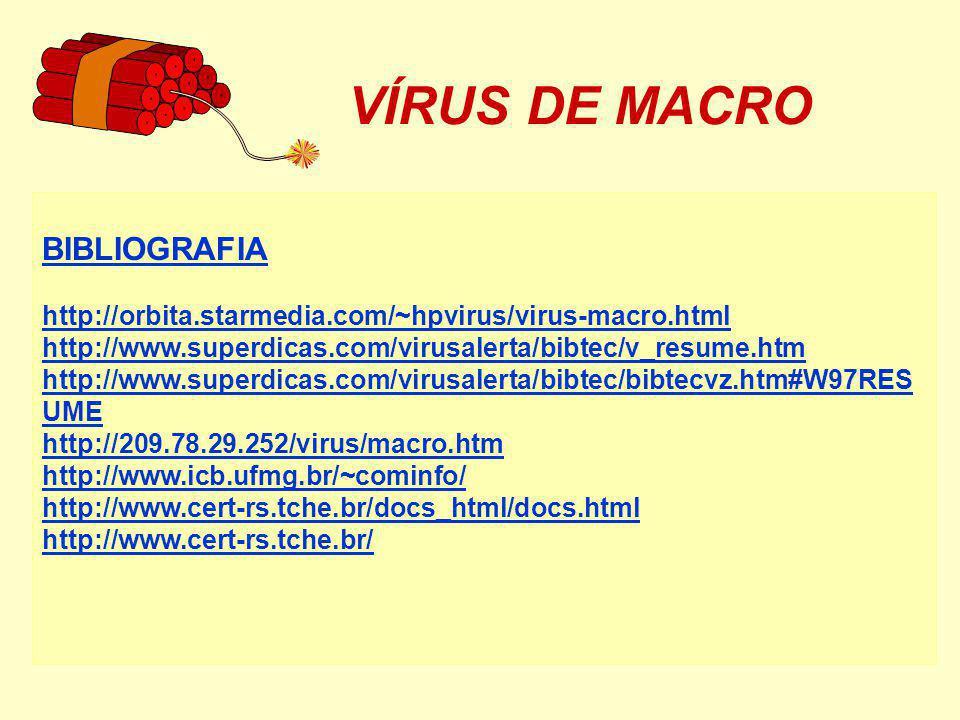 VÍRUS DE MACRO BIBLIOGRAFIA