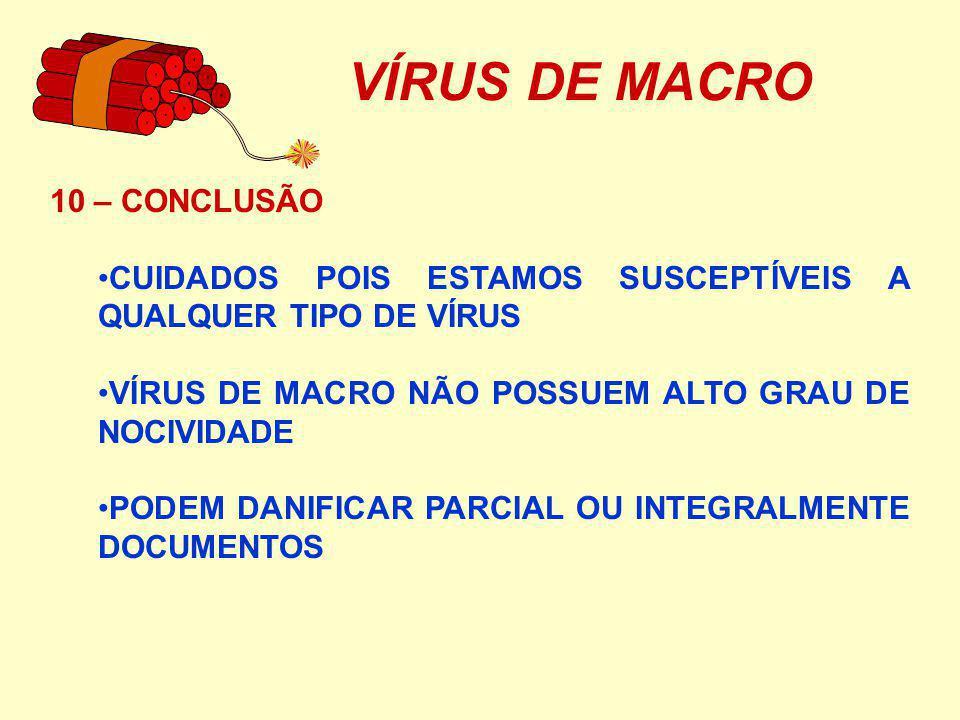 VÍRUS DE MACRO 10 – CONCLUSÃO