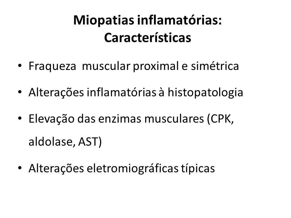 Miopatias inflamatórias: Características