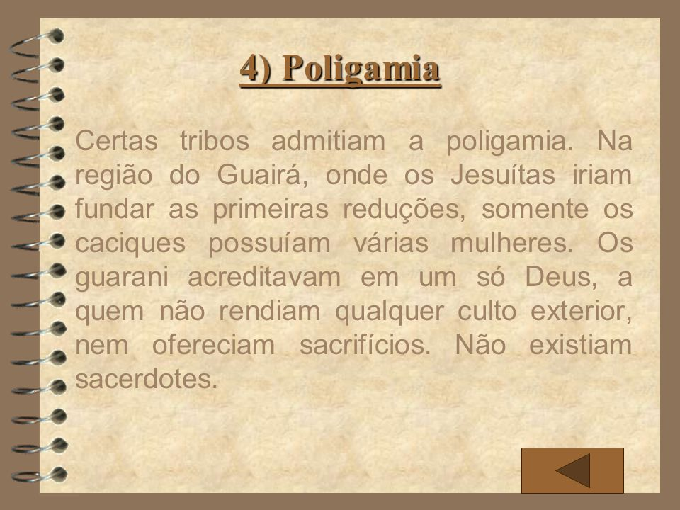 4) Poligamia