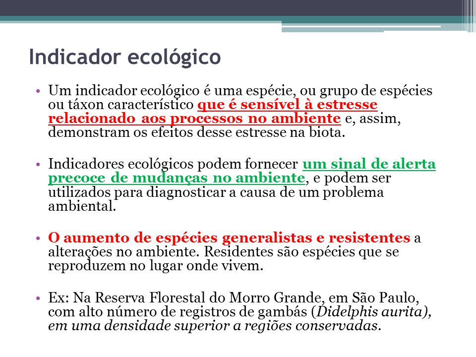 Indicador ecológico