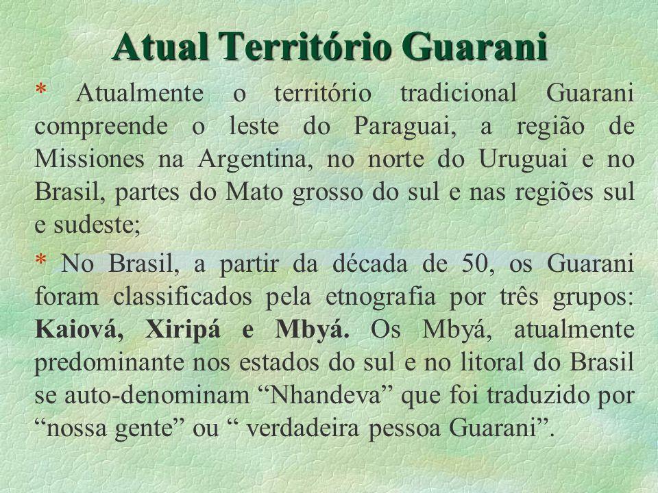 Atual Território Guarani