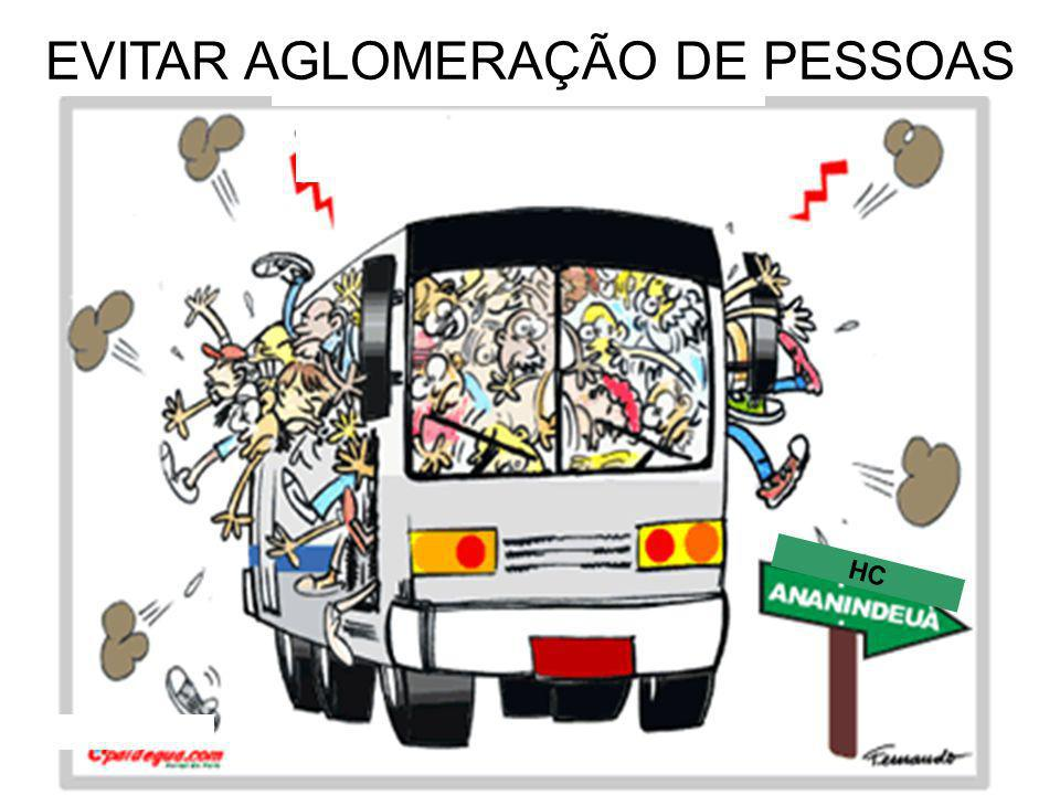 EVITAR AGLOMERAÇÃO DE PESSOAS