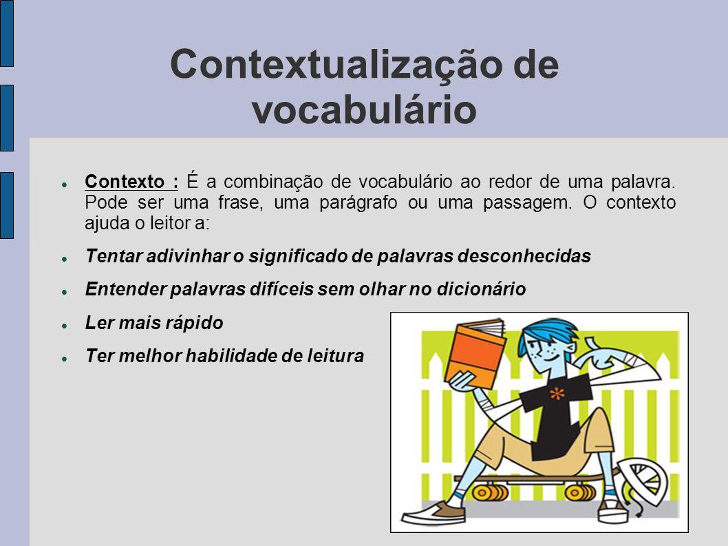 Contextualização de vocabulário