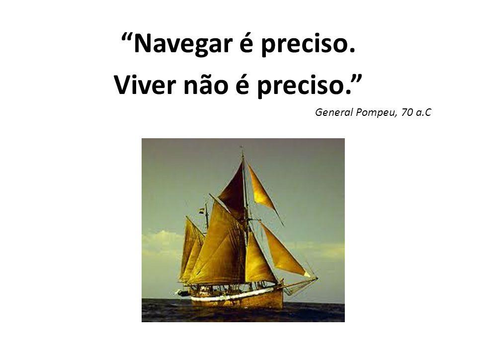 Navegar é preciso. Viver não é preciso.