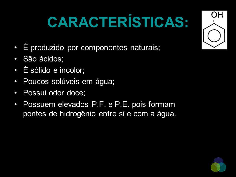 CARACTERÍSTICAS: É produzido por componentes naturais; São ácidos;