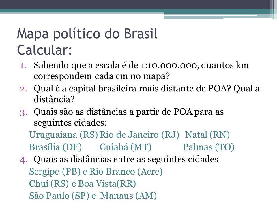 Mapa político do Brasil Calcular:
