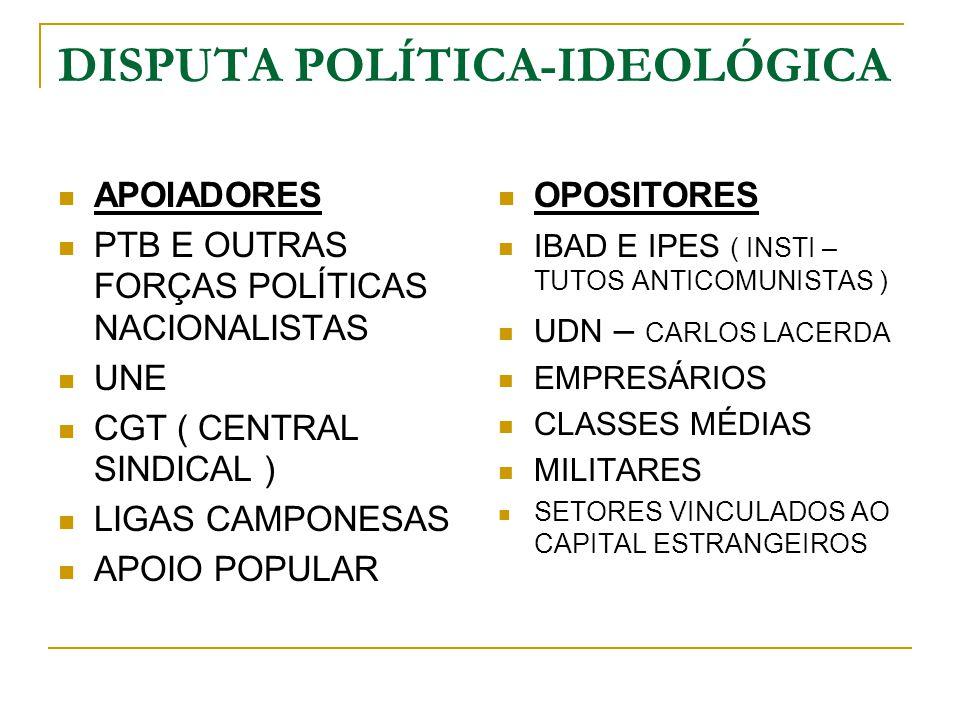 DISPUTA POLÍTICA-IDEOLÓGICA