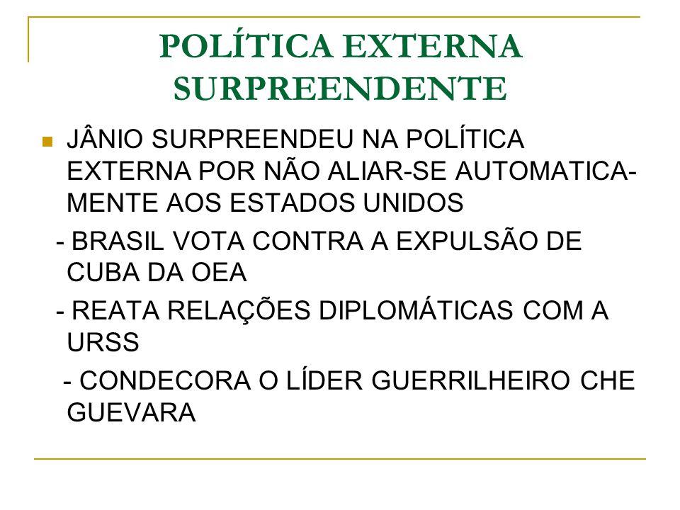 POLÍTICA EXTERNA SURPREENDENTE