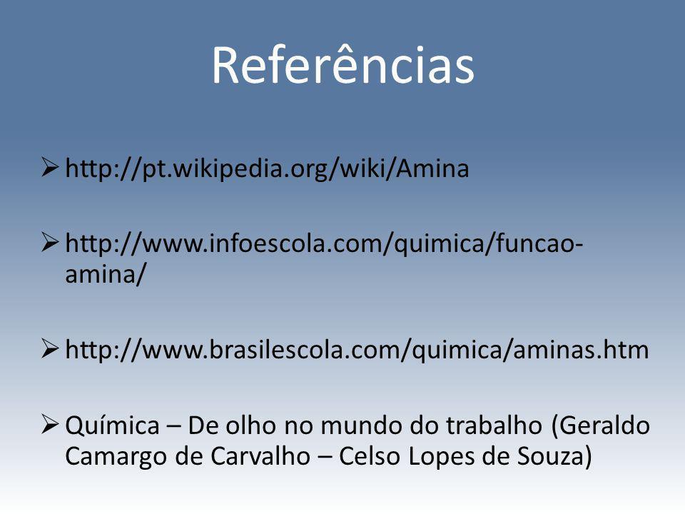 Referências http://pt.wikipedia.org/wiki/Amina