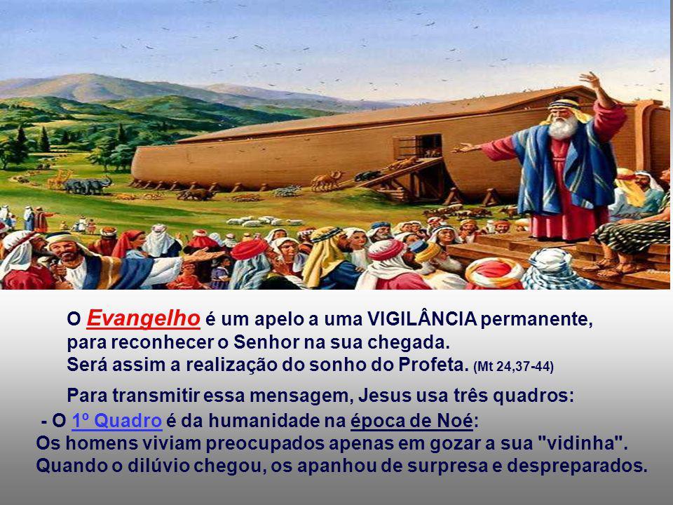 O Evangelho é um apelo a uma VIGILÂNCIA permanente,