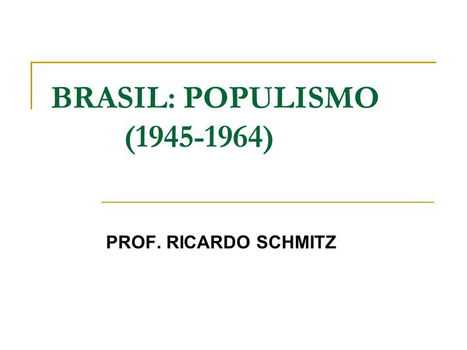 BRASIL: POPULISMO (1945-1964) PROF. RICARDO SCHMITZ