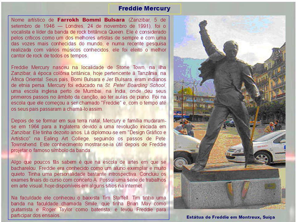 Estátua de Freddie em Montreux, Suíça