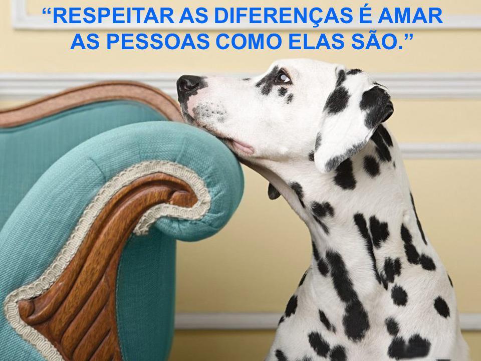 RESPEITAR AS DIFERENÇAS É AMAR AS PESSOAS COMO ELAS SÃO.