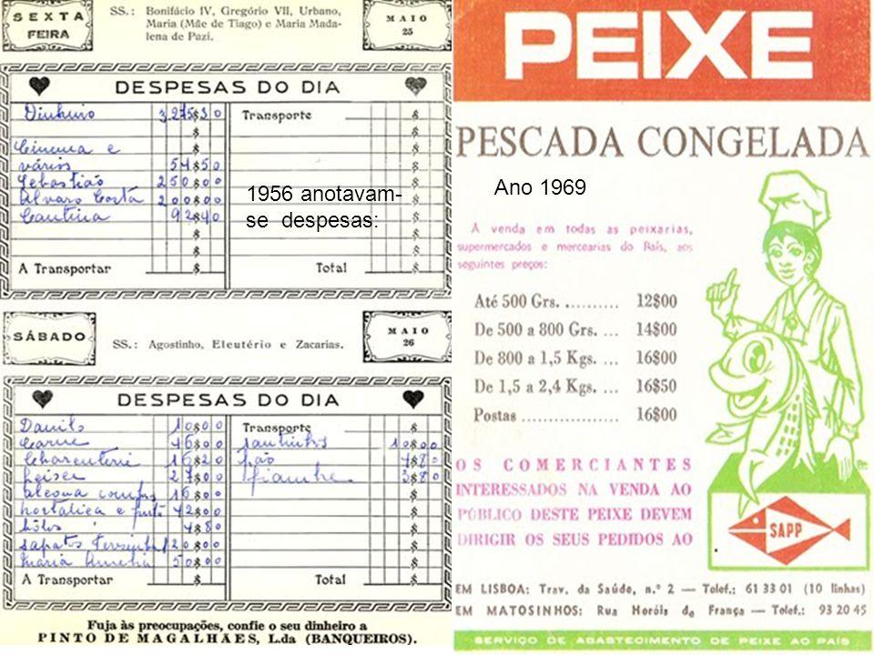 Ano 1969 1956 anotavam-se despesas: