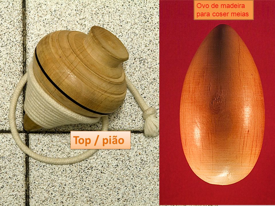 Ovo de madeira para coser meias