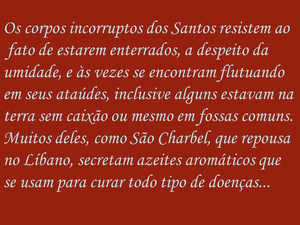 Os corpos incorruptos dos Santos resistem ao