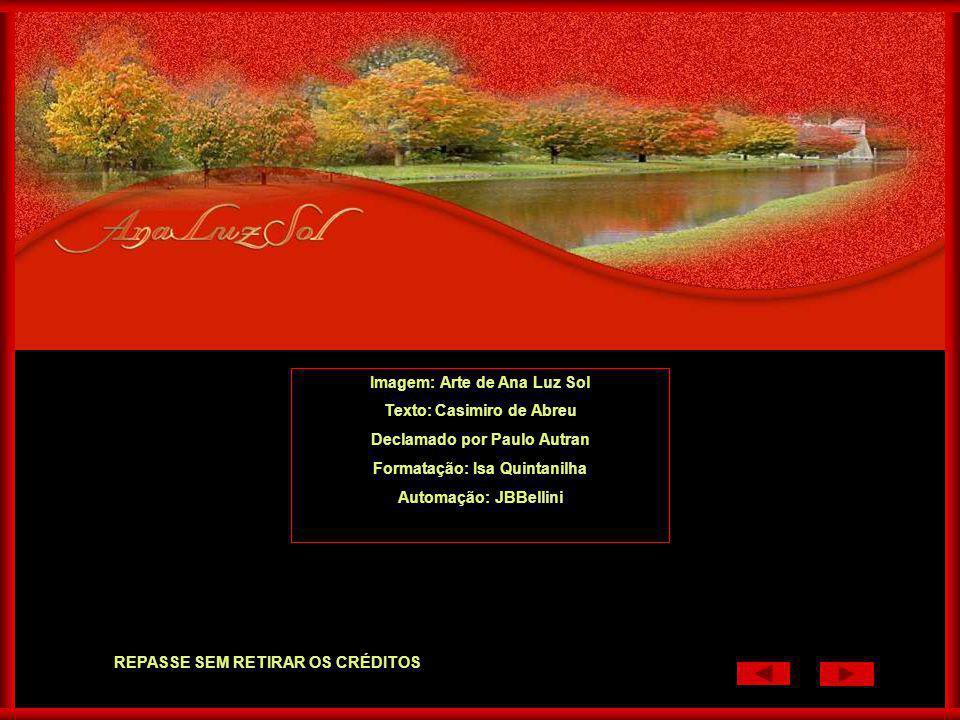 Imagem: Arte de Ana Luz Sol Texto: Casimiro de Abreu