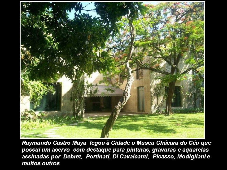Raymundo Castro Maya legou à Cidade o Museu Chácara do Céu que