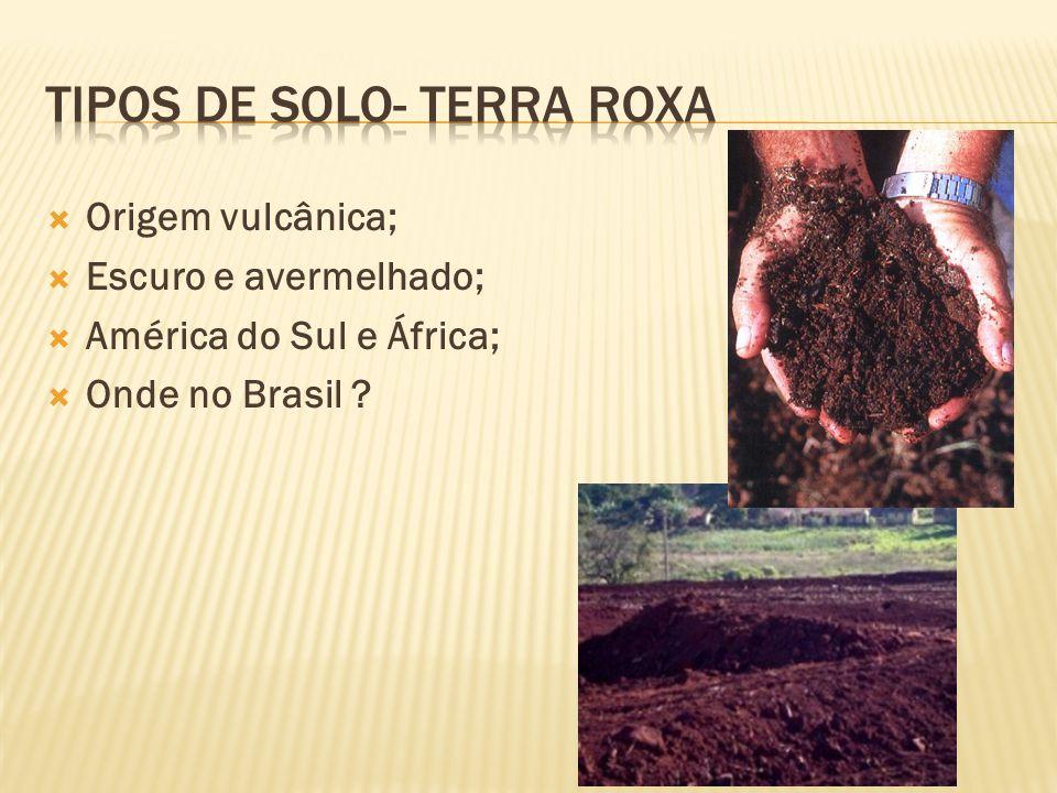 Tipos de solo- Terra roxa