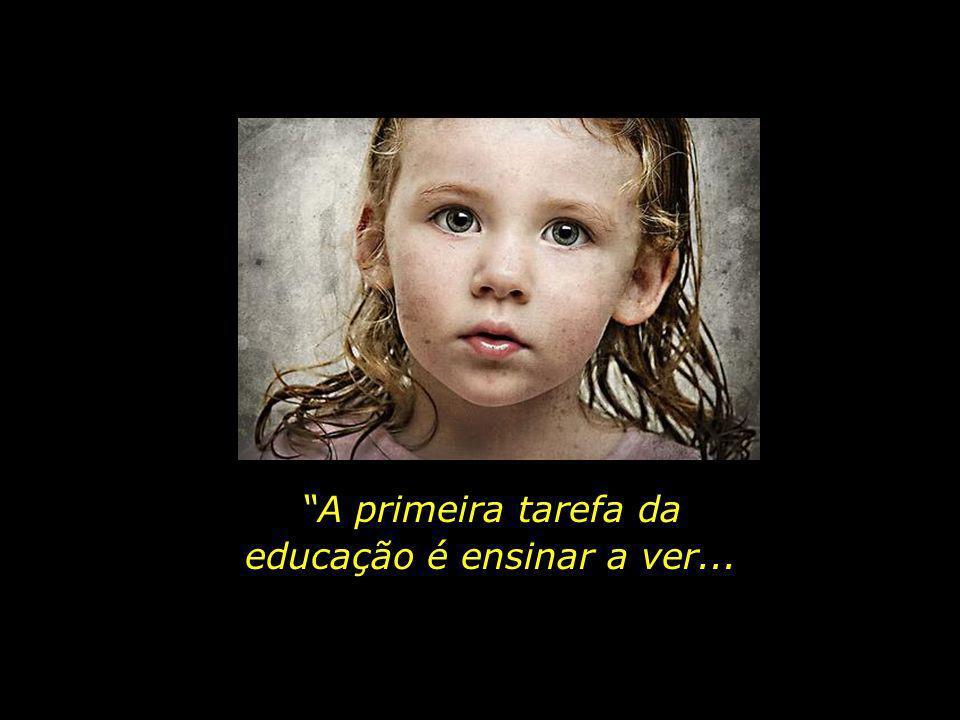 educação é ensinar a ver...