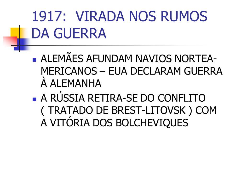 1917: VIRADA NOS RUMOS DA GUERRA