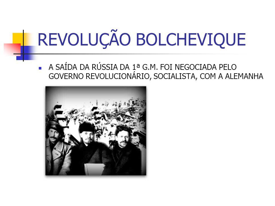 REVOLUÇÃO BOLCHEVIQUE