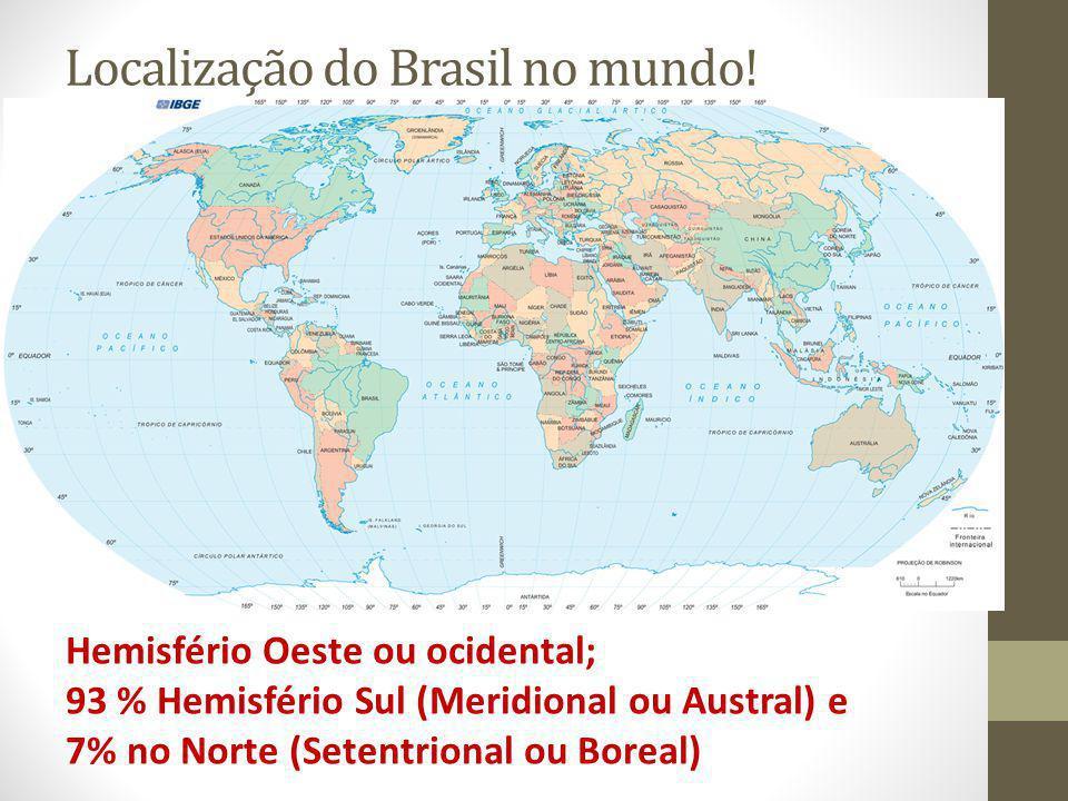 Localização do Brasil no mundo!