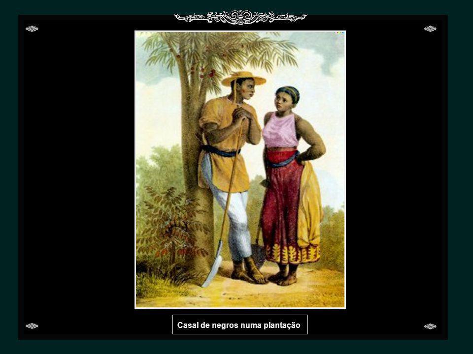 Casal de negros numa plantação