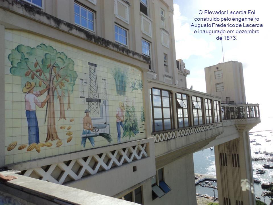 O Elevador Lacerda Foi construído pelo engenheiro Augusto Frederico de Lacerda e inaugurado em dezembro de 1873.