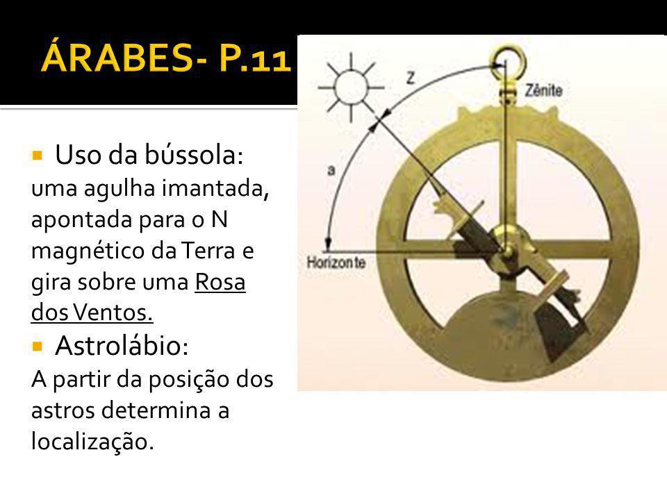 ÁRABES- P.11 Uso da bússola: Astrolábio: