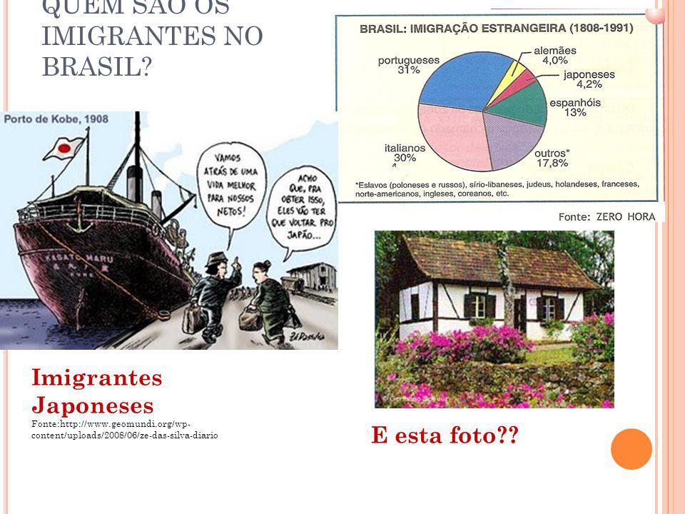 QUEM SÃO OS IMIGRANTES NO BRASIL