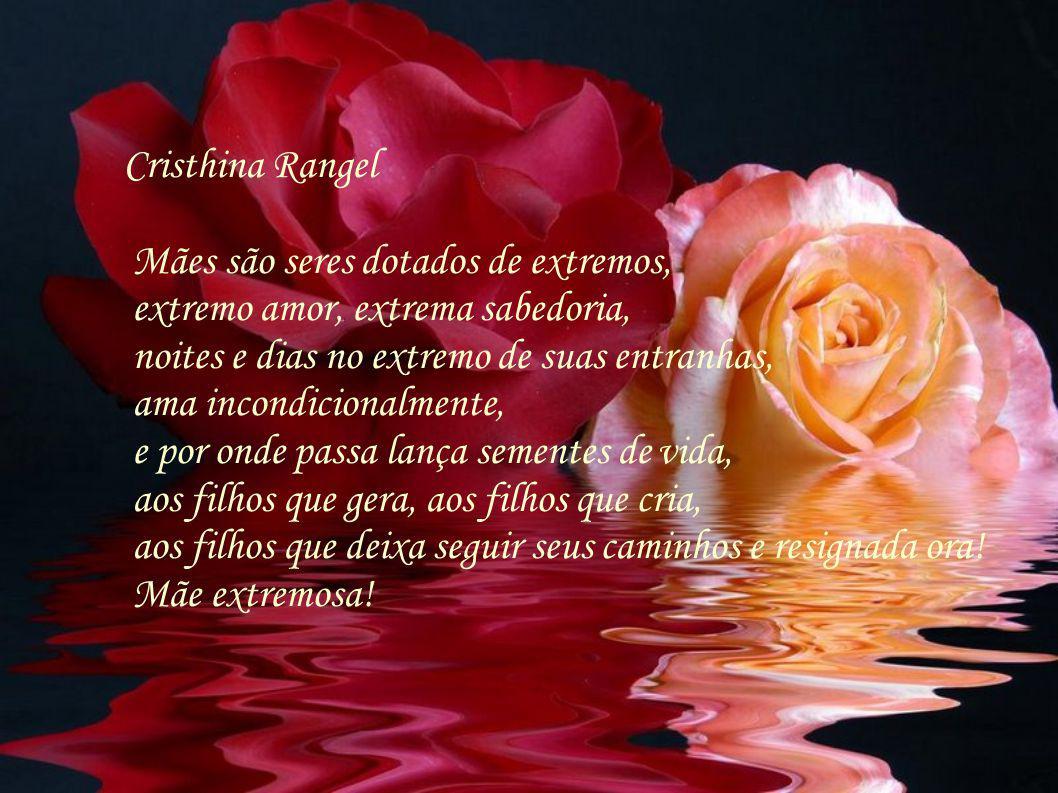 Cristhina Rangel Mães são seres dotados de extremos, extremo amor, extrema sabedoria, noites e dias no extremo de suas entranhas,