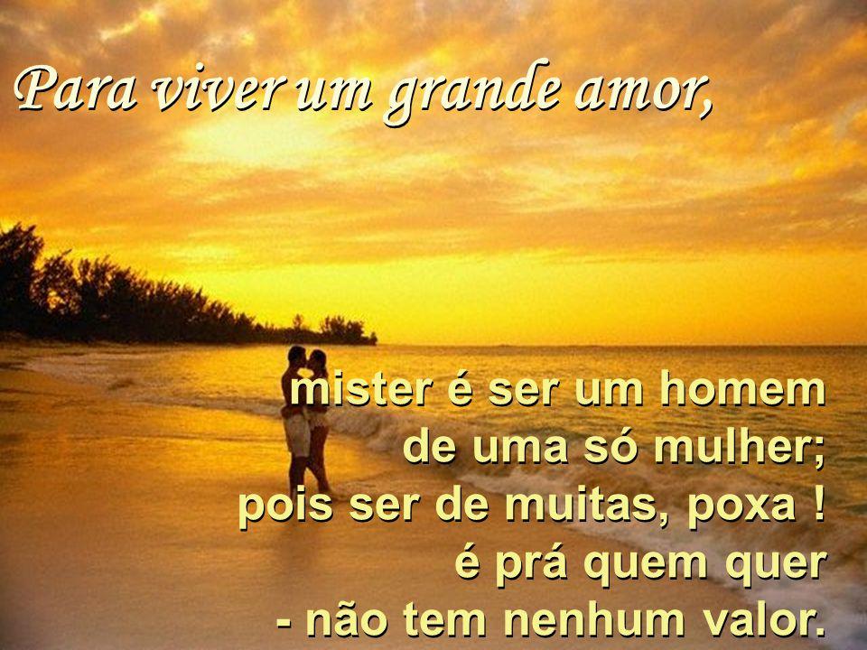 Para viver um grande amor,